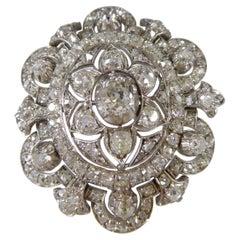 Antique Victorian 6.00 Carat Old Cut Diamond Brooch/Pendant, Circa 1880-1900