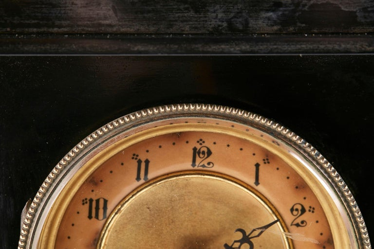 Antique Victorian 8 Day Marble Mantle Clock For Sale 2