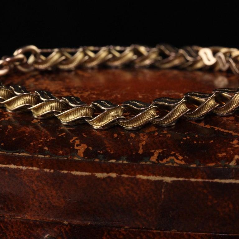 Antique Victorian 9 Karat Yellow Gold Heart Lock Bracelet For Sale 1