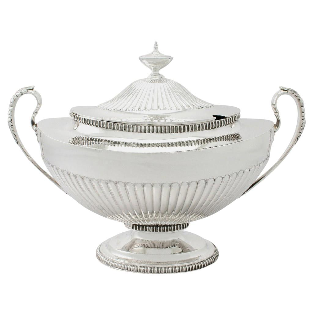 Antique Victorian Adams Style Sterling Silver Soup Tureen