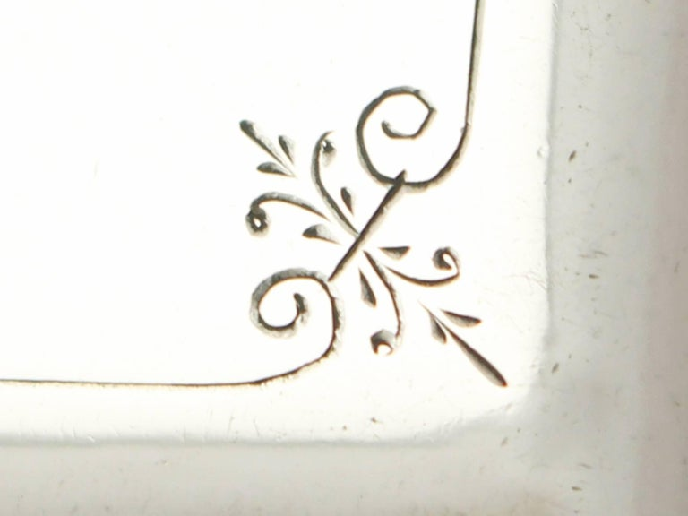 Antique Victorian Aesthetic Style Sterling Silver Card Case  For Sale 3