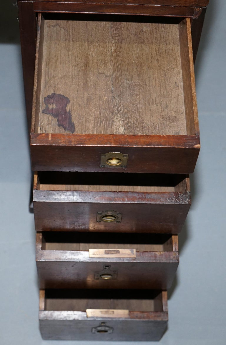 Antique Victorian Apprentice Workers Desk with Open Flap Top Lovely Little Piece For Sale 7