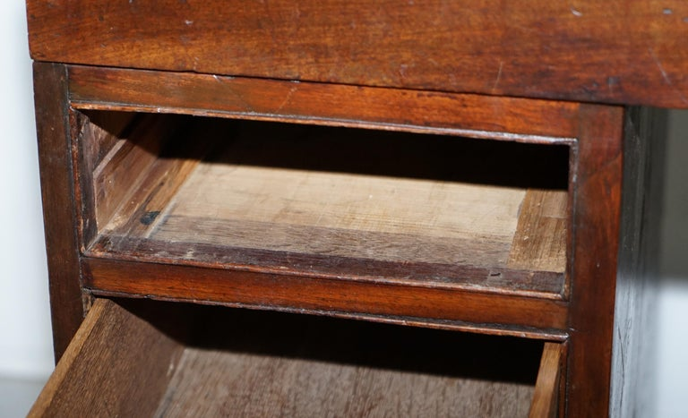 Antique Victorian Apprentice Workers Desk with Open Flap Top Lovely Little Piece For Sale 12