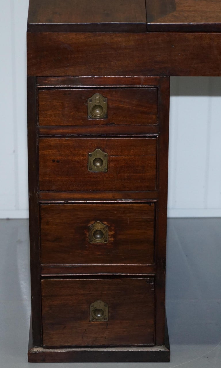 Antique Victorian Apprentice Workers Desk with Open Flap Top Lovely Little Piece For Sale 1