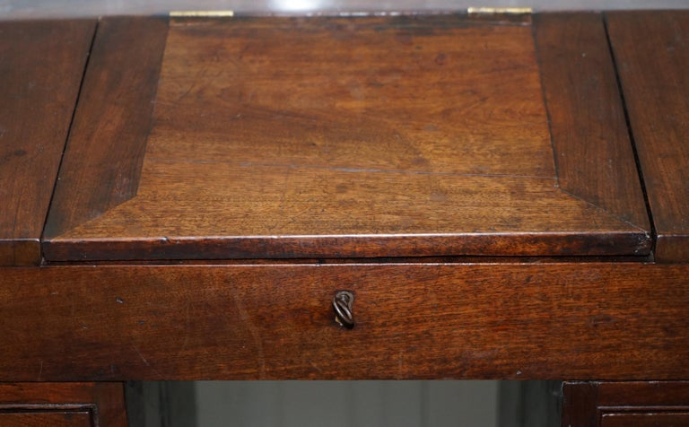 Antique Victorian Apprentice Workers Desk with Open Flap Top Lovely Little Piece For Sale 2
