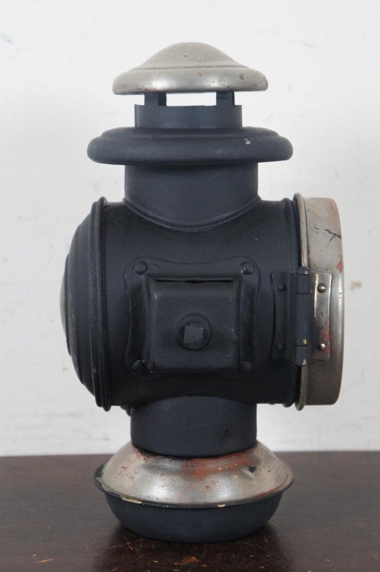 Metal Antique Victorian Automobile Carriage Lantern Model T Headlight Oil Lamp Light For Sale
