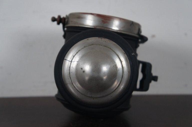 Antique Victorian Automobile Carriage Lantern Model T Headlight Oil Lamp Light For Sale 1