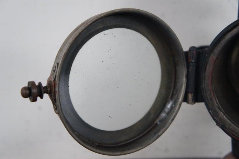 Antique Victorian Automobile Carriage Lantern Model T Headlight Oil Lamp Light For Sale 3