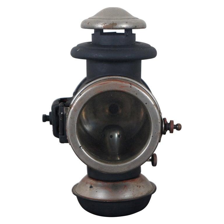 Antique Victorian Automobile Carriage Lantern Model T Headlight Oil Lamp Light For Sale