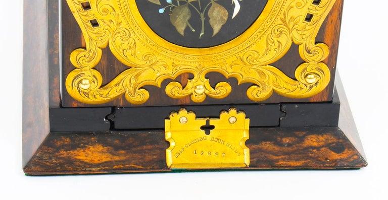 Antique Victorian Betjemann's Pietra Dura Coromandel Book Slide 19th C 5
