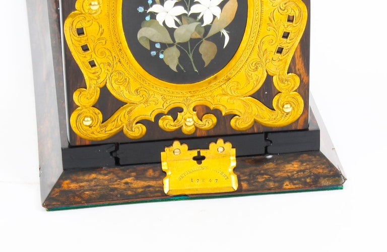 Antique Victorian Betjemann's Pietra Dura Coromandel Book Slide 19th C 2