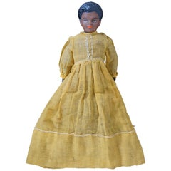 Antique Victorian Bisque Doll Black African American Cloth Body