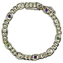 Antique Victorian Bracelet Suffragette 15 Carat Gold, circa 1900