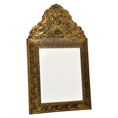 Antique Victorian Brass Mirror