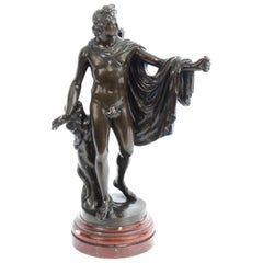 Antique Victorian Bronze Sculpture of Greek God Apollo, 19th Century
