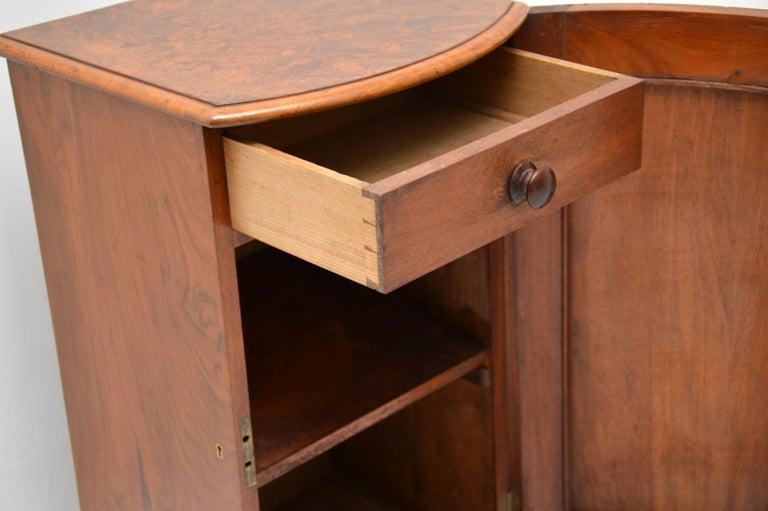 Antique Victorian Burr Walnut Bedside Cabinet 5