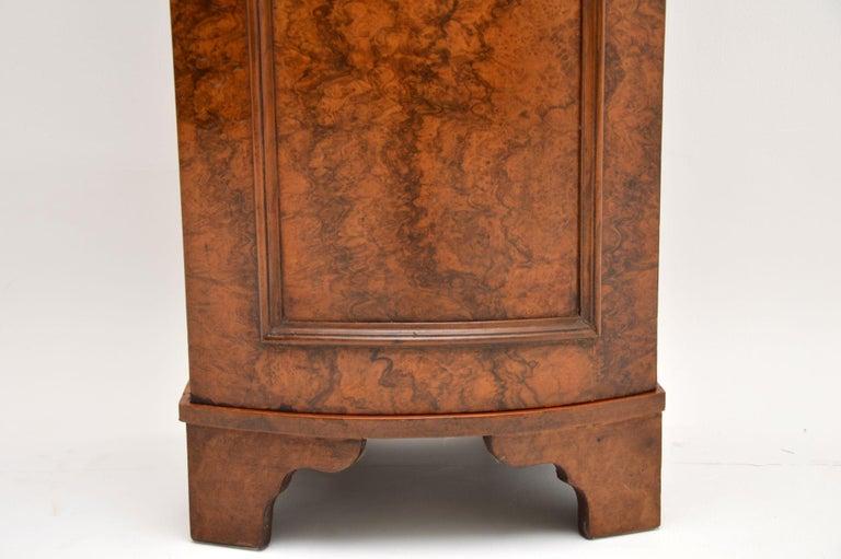 Antique Victorian Burr Walnut Bedside Cabinet 3