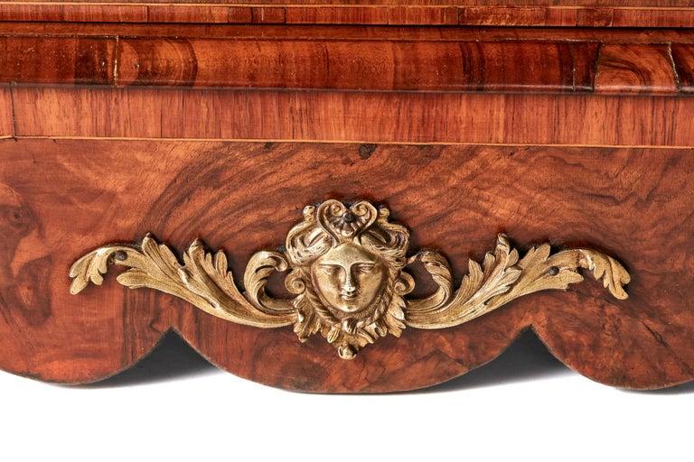 Antique Victorian Burr Walnut Credenza For Sale 6