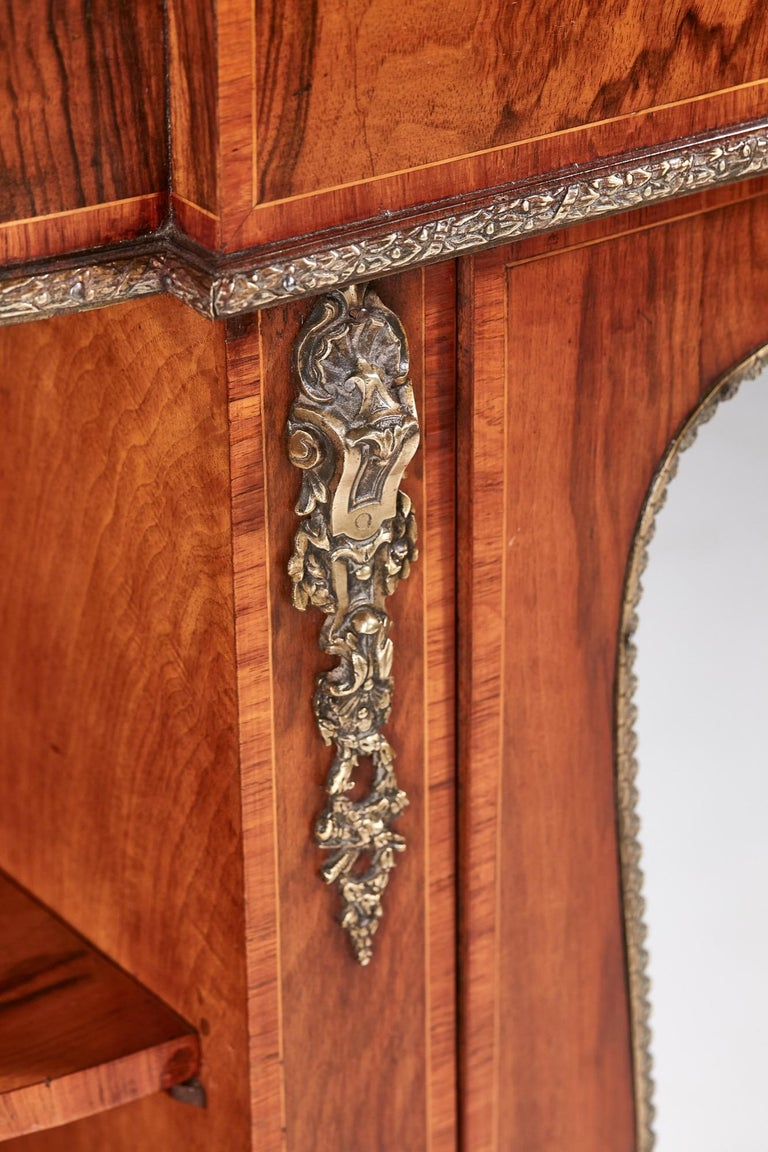 Antique Victorian Burr Walnut Credenza For Sale 9