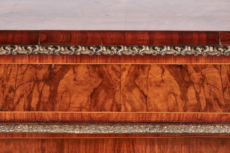 Mid-19th Century Antique Victorian Burr Walnut Credenza For Sale