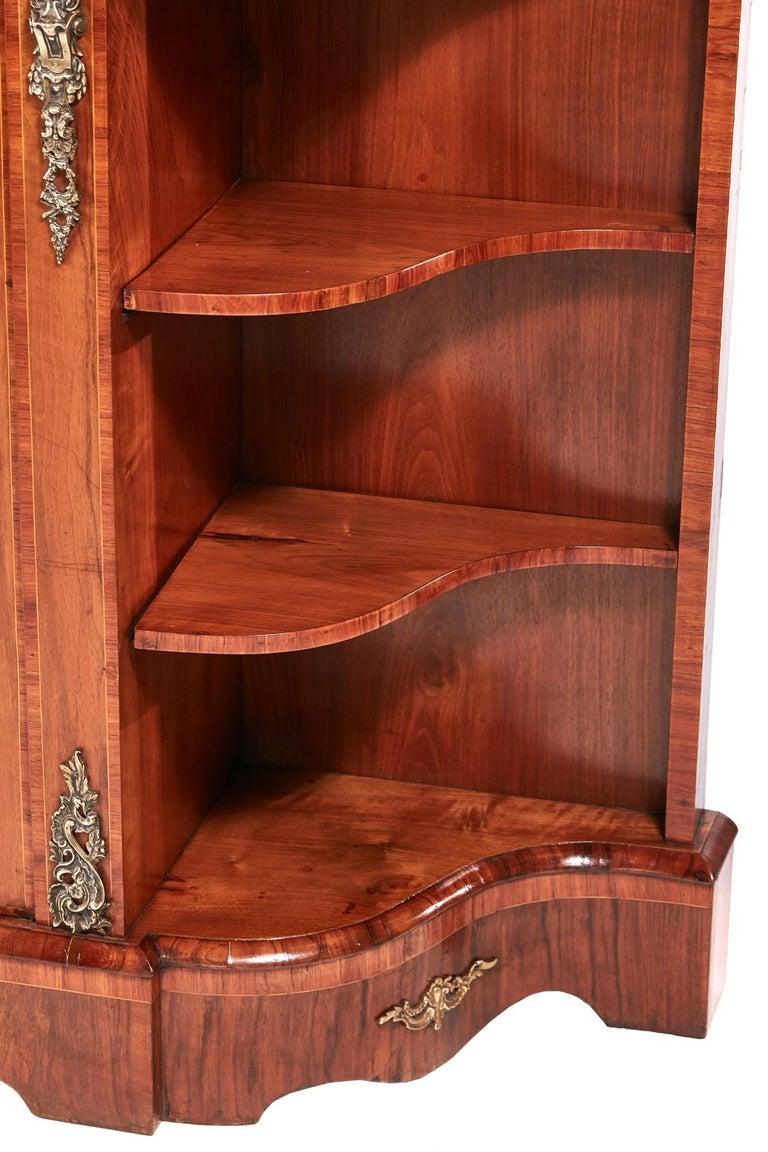Antique Victorian Burr Walnut Credenza For Sale 1