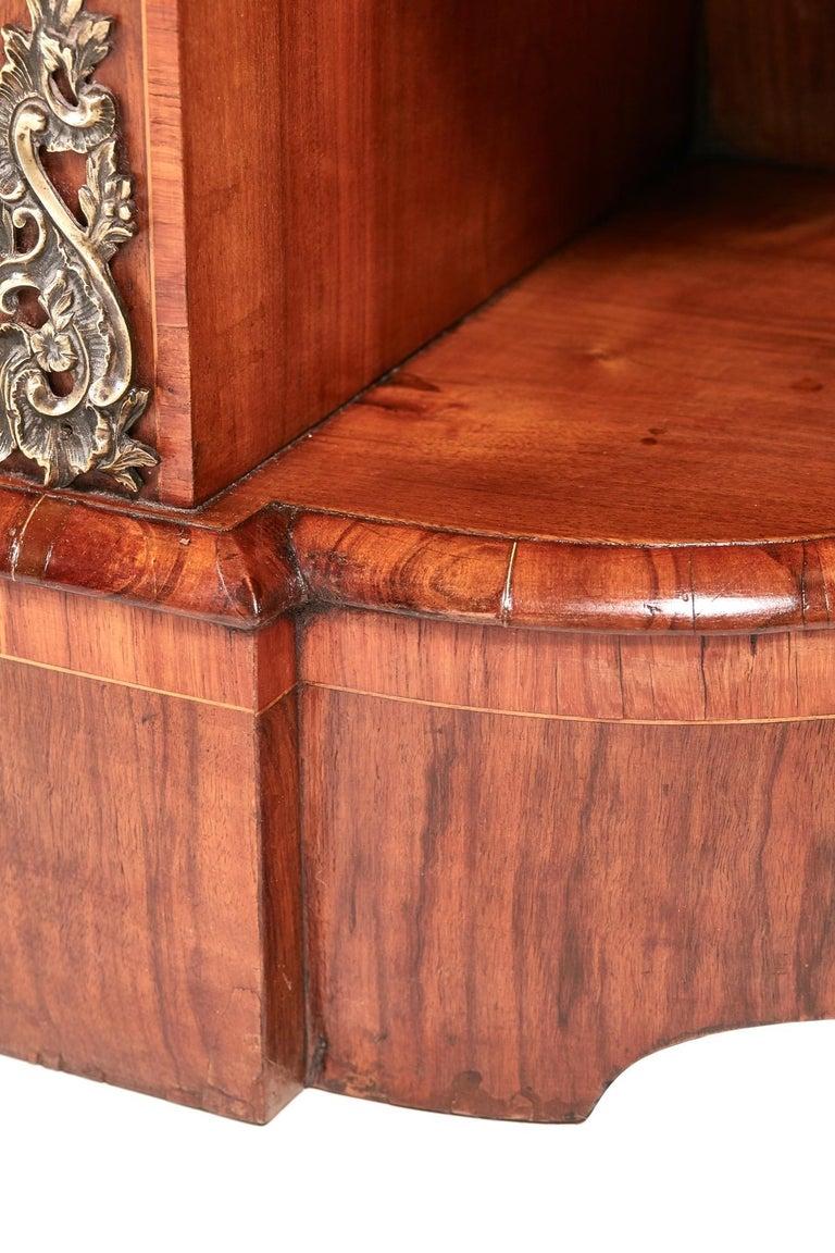 Antique Victorian Burr Walnut Credenza For Sale 3