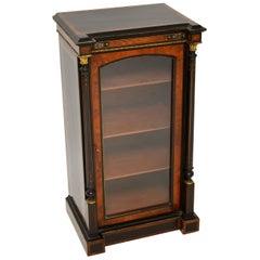 Antique Victorian Burr Walnut & Ebonised Cabinet