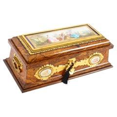 Antique Victorian Burr Walnut Ormolu Caskwet by Betjeman & Sons, 19th C