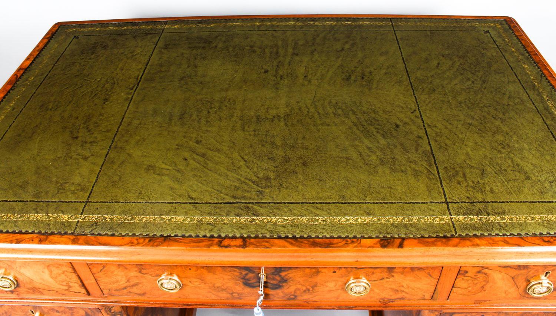 - Antique Victorian Burr Walnut Pedestal Desk, 19th Century At 1stdibs