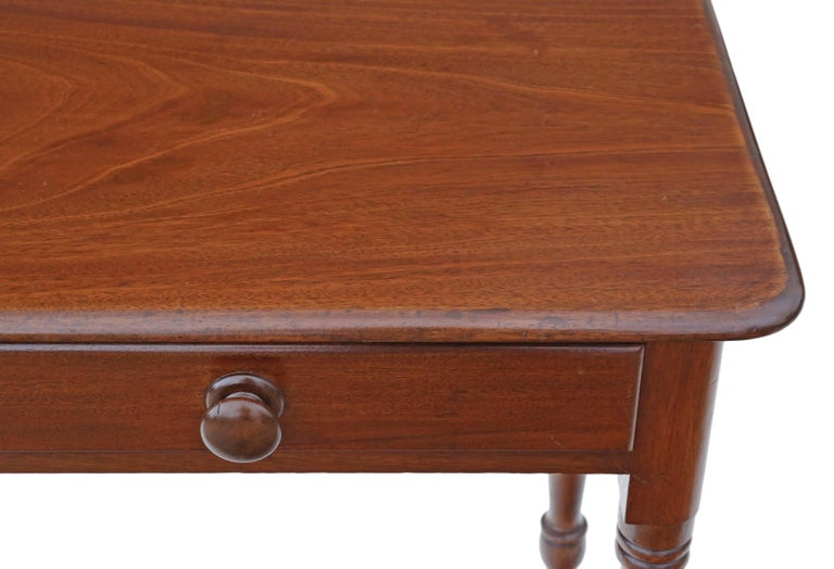 Antique Victorian circa 1880 Mahogany Writing Dressing Table Desk In Good Condition In Wisbech, Cambridgeshire
