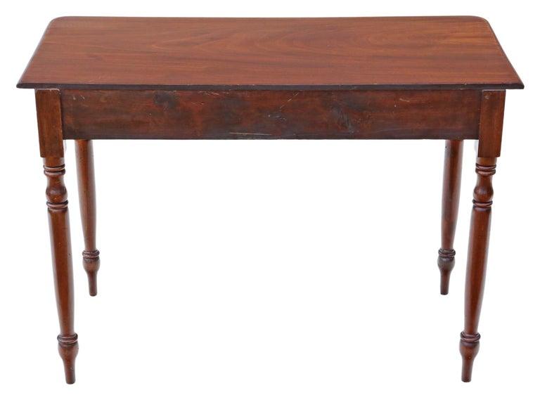 Antique Victorian circa 1880 Mahogany Writing Dressing Table Desk 3