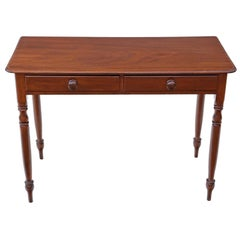 Antique Victorian circa 1880 Mahogany Writing Dressing Table Desk