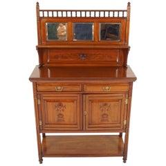 Antique Victorian Cabinet, Carved Walnut Display Cabinet, Scotland 1880, B2193