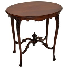 Antique Victorian Carved Mahogany Occasional Table