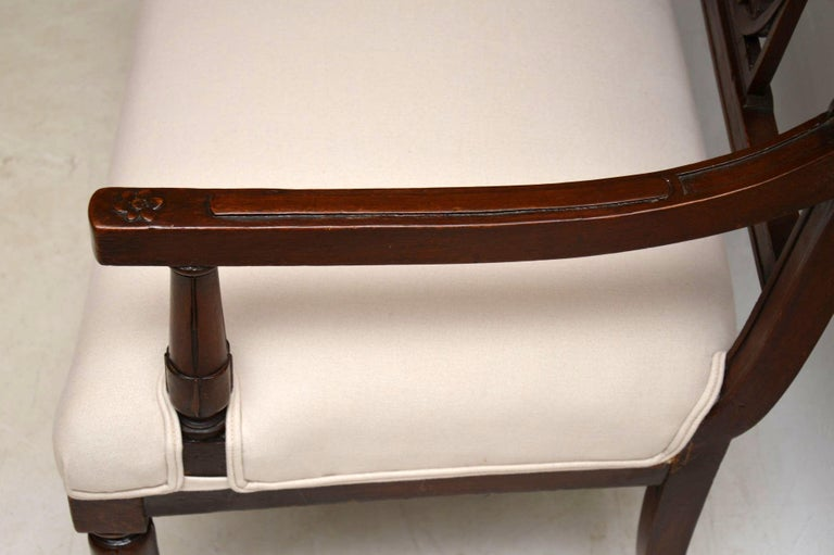 Antique Victorian Carved Mahogany Settee 5