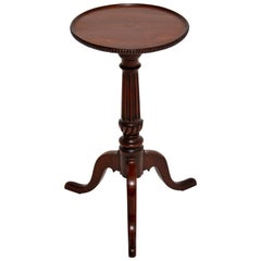 Antique Victorian Carved Mahogany Wine Table