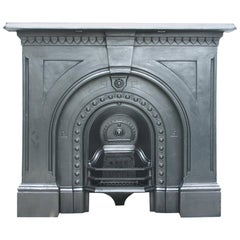Antique Victorian Cast Iron Arched Fire Surround with Original Arched Insert