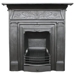 Antique Victorian Cast Iron Fireplace Produced by Coalbrookdale Foundry