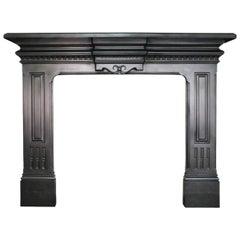 Antique Victorian Cast Iron Fireplace Surround