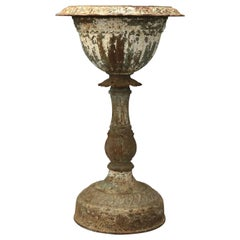 Antique Victorian Cast Iron Mott School Urn Pedestal Garden Planter, circa 1890
