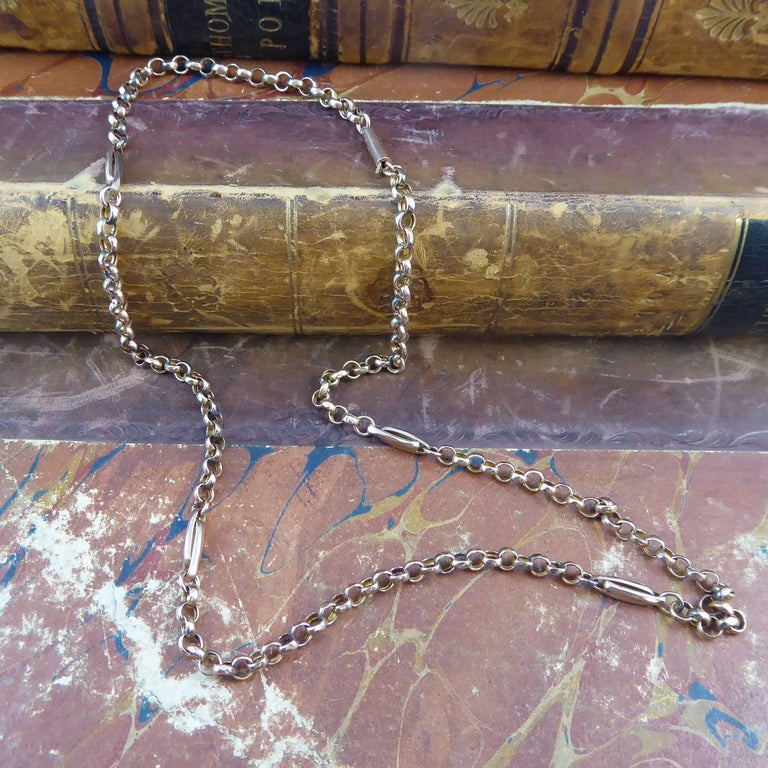 Antique Victorian Chain, 9 Carat Rose Gold, circa 1900 In Excellent Condition For Sale In Yorkshire, West Yorkshire