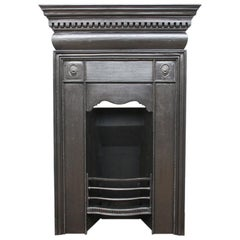 Antique Victorian Classical Cast Iron Bedroom Fireplace