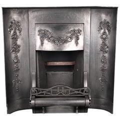 Antique Victorian Coalbrookdale Foundry Cast Iron Insert, English 19th Century