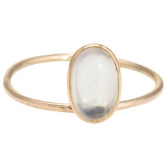 Antique Victorian Conversion Ring Moonstone 14 Karat Gold Estate Fine Jewelry