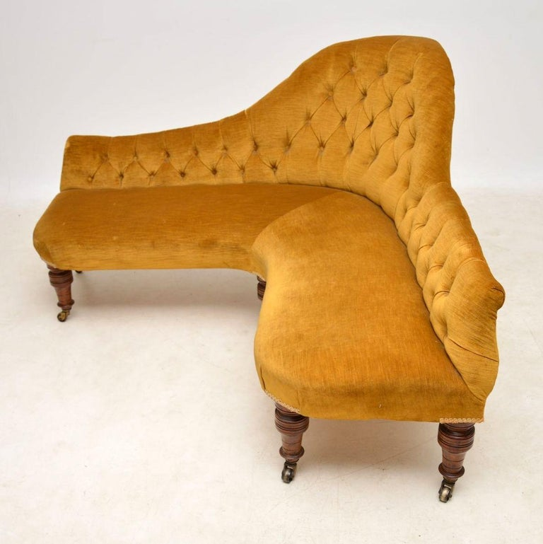 Antique Victorian Corner Sofa Chaise Longue at 1stdibs