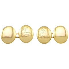 Antique Victorian Cufflinks in Yellow Gold