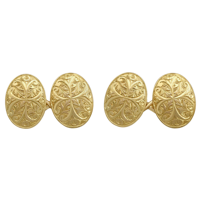 Antique Victorian Cufflinks in Yellow Gold