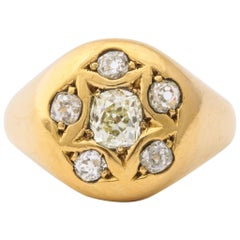 Antique Victorian Cushion Cut Diamond Ring
