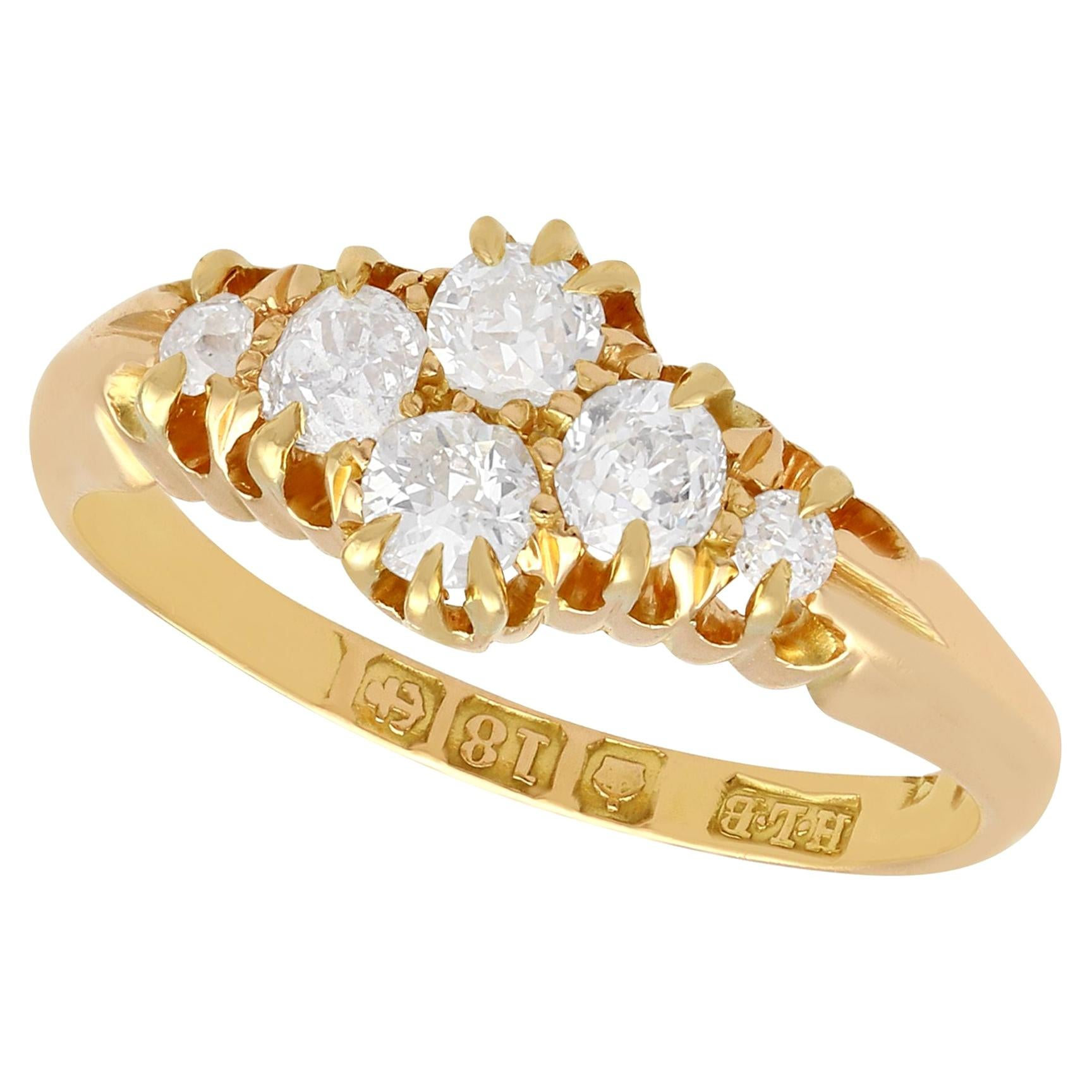 Antique Victorian Diamond and Yellow Gold Dress Ring