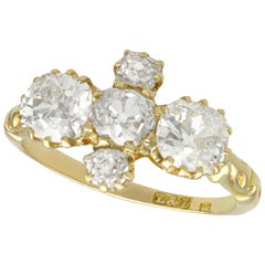 Antique Victorian Diamond and Yellow Gold Engagement Ring, Circa 1890
